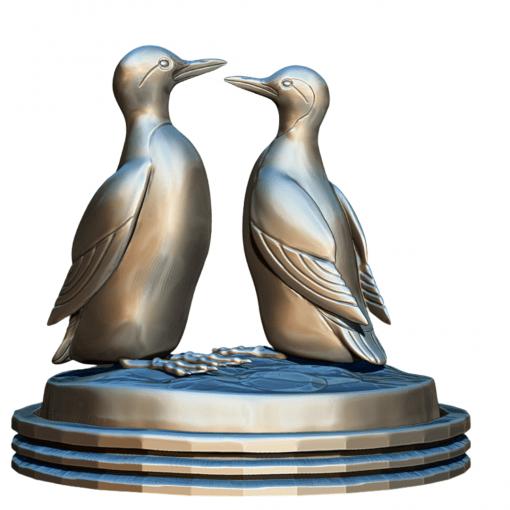 Fichier : Figurines Duo de Guillemot (oiseau) au format numérique face