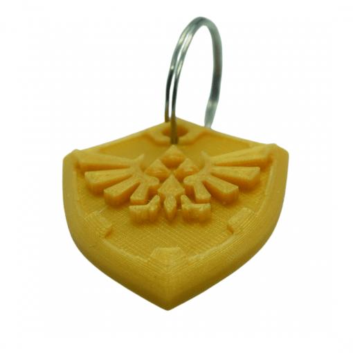 Porte-clés Zelda - Bouclier d'Hylian avant