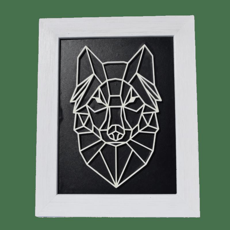 Tableau loup impression 3D