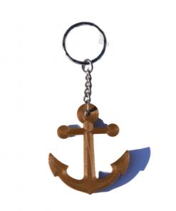 Porte-clés ancre marine en impression 3D marron