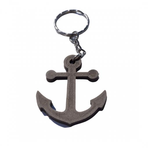 Porte-clés ancre marine en impression 3D bois