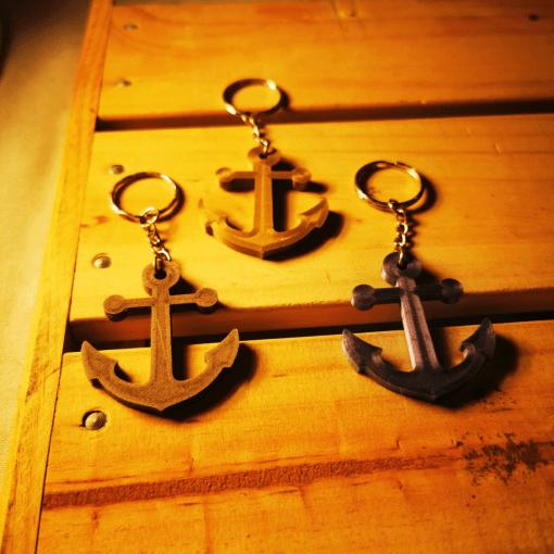 Porte-clés ancre marine en impression 3D