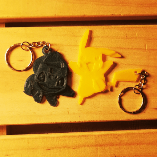 Porte-clés Pokémon - Pikachu / Bulbizarre