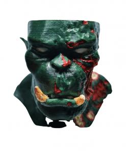 Cendrier Orc zombie en impression 3D face