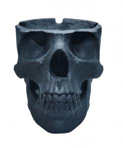 Cendrier crâne humain en impression 3D face