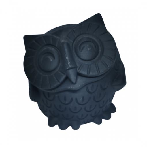 Chouette qui sourit impression 3D noir mat