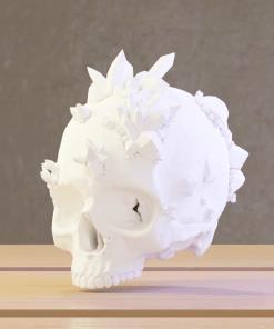 Fichier : Reproduction d'un crâne humain avec cristaux au format numérique