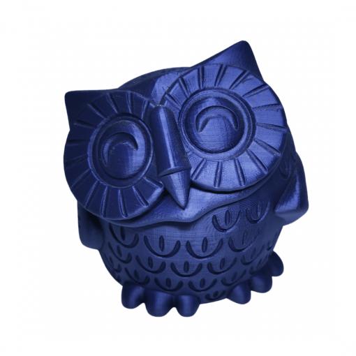 Figurine chouette en impression 3D bleu