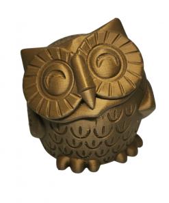 Figurine chouette en impression 3D marron