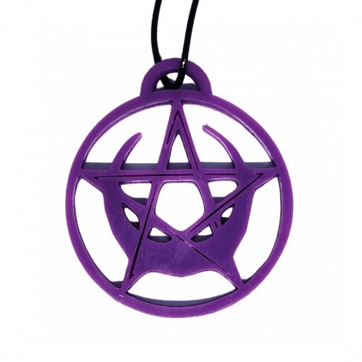 Pendentifs Pentacle étoile - lune violet