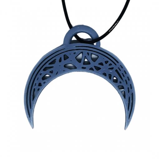 Pendentifs lune - demi-cercle en impression 3D gris