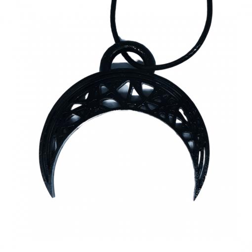 Pendentifs lune - demi-cercle en impression 3D noir