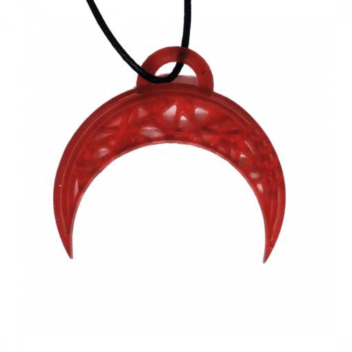Pendentifs lune - demi-cercle en impression 3D rouge