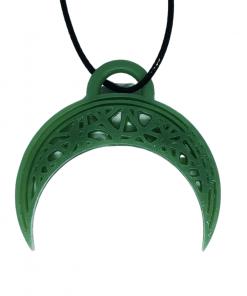 Pendentifs lune - demi-cercle en impression 3D vert