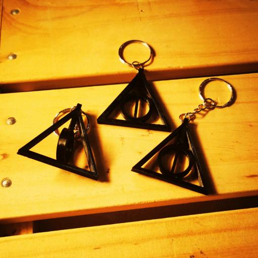 Porte-clés Symbole reliques de la mort Harry Potter