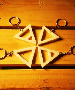 Porte-clés éléments alchimique triangle