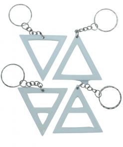 Porte-clés éléments alchimique triangle blanc
