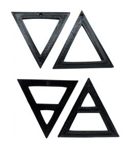 Porte-clés éléments alchimique triangle noir
