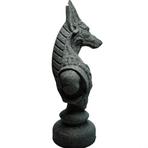 Reproduction Egypte Anubis en impression 3D effet pierre coté droit