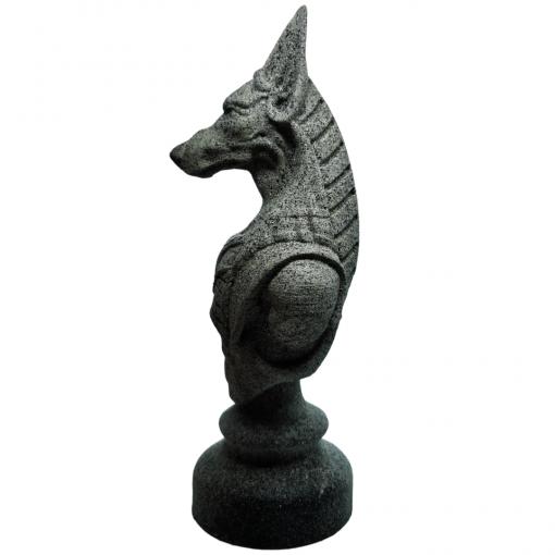 Reproduction Egypte Anubis en impression 3D effet pierre coté gauche
