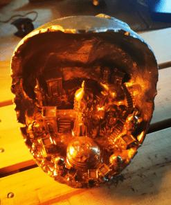 Reproduction Village lunaire en impression 3D
