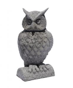 Statues Chouette effet pierre en impression 3D face