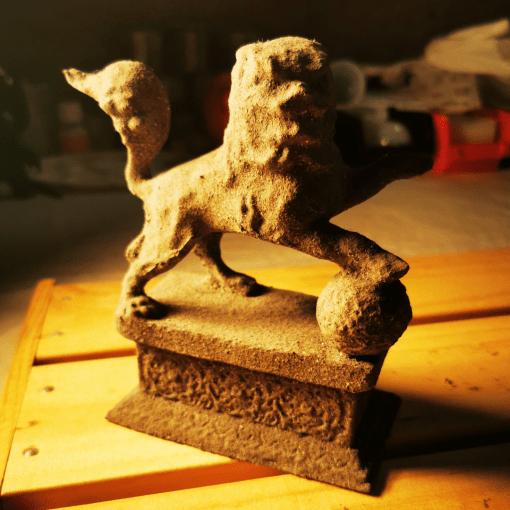 Statues Lion gardien chinois effet pierre