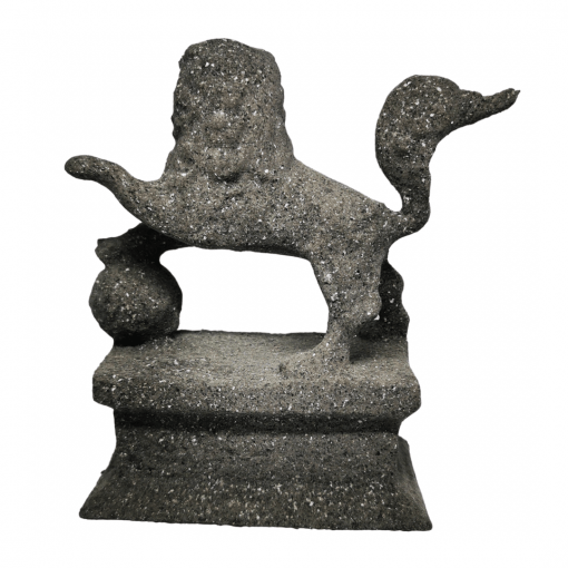 Statues Lion gardien chinois effet pierre face arrière